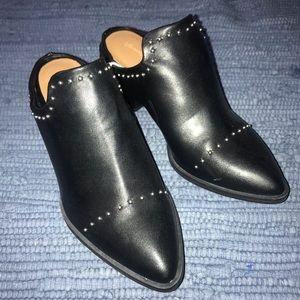 Universal Thread black heeled studded mules
